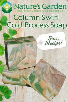 Free Column Swirl Cold Process Soap Recipe by Natures Garden