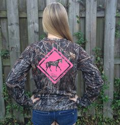 Women's Horse Crossing Series Performance Long Sleeve Shirt from Country Shore | http://countryshoreoutfitters.com/products/womens-horse-crossing-series-performance-long-sleeve-shirt