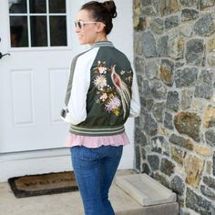 Spring is so perfect for fun accessories like this embroidered bomber jacket (and a JORD watch- Reach the giveaway page via the link in my bio- 2 days left!!) How to you accessorize in spring? http://liketk.it/2r25P #liketkit @liketoknow.it  Screenshot or 'like' this pic to shop the product details from the new LIKEtoKNOW.it app, available now from the App Store!
