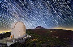 光地上局と星の軌跡、テネリフェ島