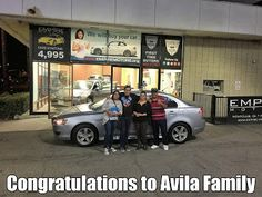 All the way from Big Bear Lake for a beautiful #mitsubishi #lancer AWD. Congratulations to the Avila Family