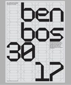 modular typeface created from a grid of triangles and rectangles