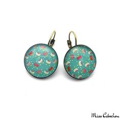 Pop earrings - The jewelry of the day by Miss Cabochon (available at http://misscabochon.com)