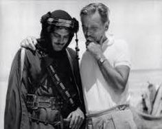 """Omar Sharif and David Lean on the set of """"Lawrence of Arabia."""""""