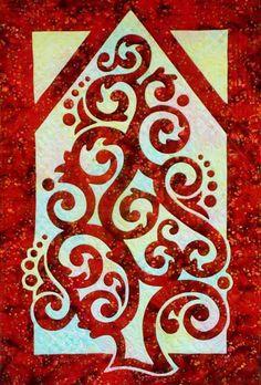 Christmas Tree 2FAQ applique quilt pattern
