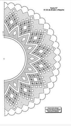 Cómo hacer abanicos de encaje de bolillos - PLANTILLAS ABANICOS BOLILLOS GRATIS - El Cómo de las Cosas Bobbin Lace Patterns, Sewing Patterns, Crochet Lace Collar, Pencil Design, Lacemaking, Lace Heart, Lace Jewelry, Collar Pattern, Irish Crochet