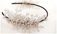 Bespoke Wedding Accessories in London - The Headdress Collection Tiny Flowers, Beaded Flowers, Glitz Wedding, Bridal Headpieces, Fascinators, Bugle Beads, Wedding Hair Pieces, Headdress, Bridal Accessories