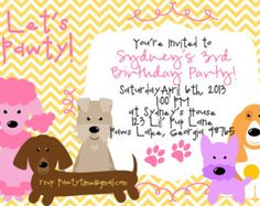 11 Best Dog Birthday Party Invitations Images