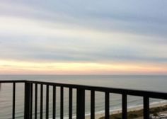 Myrtle Beach Resort condo rental - The start of a great sunset !! Relaxing chairs are provided on the Balcony.