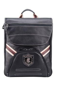 Square leather rucksack with compartment for laptop Nordweg...  Mochila cuadrada de cuero con compartimento para portátil Nordweg...