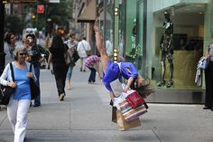 Dancing in the streettt, literally - i do this after a shopping spree too lol