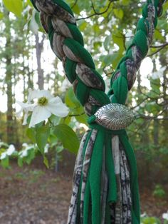 Check out this item in my Etsy shop https://www.etsy.com/listing/230526969/braided-scarf-necklace-in-camo-and-green