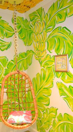 Monkey Themed Fitting Room at Lilly Pulitzer Palm Beach Gardens. Our cottage sun room!