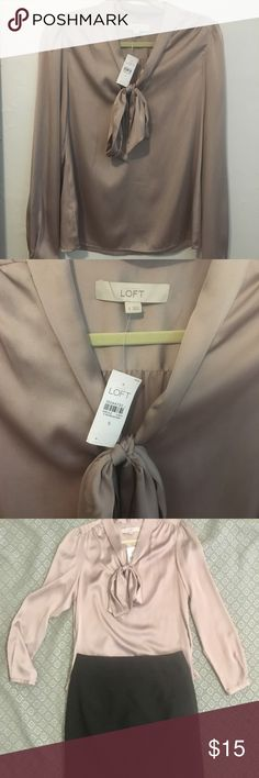 Ann Taylor LOFT Silk Blouse New With Tags. Size Small, fits true to size. The Silk makes it comfortable yet festive and dressy, it is perfect for holiday parties! LOFT Tops Blouses