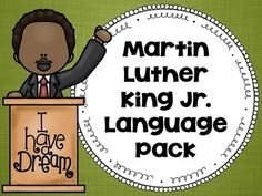 SALE!  This activity includes six pages that each have a short non-fiction story about Dr. King. Following the story, there are 3-4 questions regarding the main idea/details in the story, vocabulary, synonyms/antonyms, and grammar that needs to be fixed. There are also six coloring/dot pages that can be used to target any goal area.
