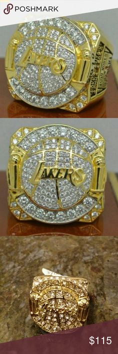 L.A. Lakers Championship fashion ring.  Kobe Bryant 2009-2010 season engraved on inside of ring. Accessories Jewelry