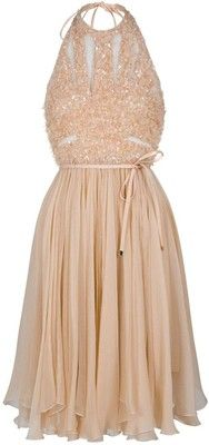 ballerina pink chiffon dress  Wish I were slim and tall!