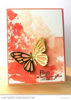 Blissful Butterflies, Flutter of Butterflies - Lace Die-namics, Flutter of Butterflies - Solid Die-namics - Julie Dinn #mftstamps