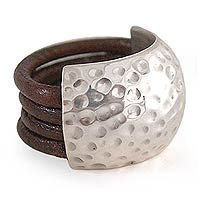 Leather ring,  'armor shell'; $97.95