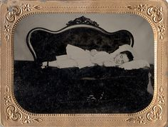 Is She Only Sleeping? - Quarter Plate Cased Tintype