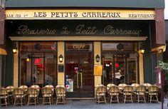 Paris Cafe Picture Gallery: Les Petits Carreaux cafe in Les Halles in Paris