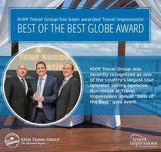 Thanks to Travel Impressions for naming us among the 'Best of the Best' at their recent Globe Awards! #khmrocks