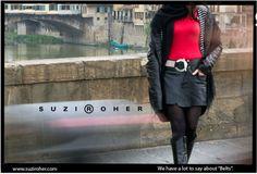 Designer Suzi Roher creates her eclectic, handmade belts in the belief that women appreciate an. Postcards, Belt, Design, Women, Belts, Greeting Card, Woman