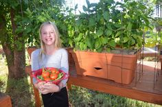 Here's my daughter Rebekah holding some freshly-picked green beans and tomatoes.  She's standing in front of heavily-laden jalapeno and green pepper bushes, ripe for harvesting.  I'm really looking forward to the Japanese eggplant, which we had to prop up because there's so many fruit (or vegetables – people can't seem to agree what they are) on each plant.   We got a late start here in Santa Fe at 7,200 feet altitude, but the crops are full and great-tasting.  Thanks!  Rebekah D., Santa Fe,...
