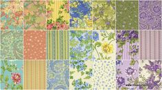 Glorious Garden Charm Pack - April Cornell - Free Spirit Fabrics