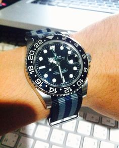 My modified Rolex GMT with NATO strap!!!!Handsome u r!!!!!!