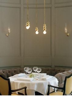 Ilse Crawford's design for the restaurant Mathias Dahlgren is worth a revisit; for its low-key grandeur, spectacular location in Stockholm's Grand Hotel, lighting designs by Michael Anastassiades, and the use of restored furniture from the hotel's early years combined with carefully designed new pieces. Go to the Grand Hotel for more information.