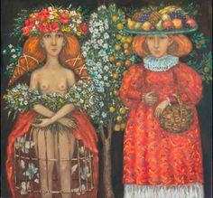 artist Kallistova Elena, Autumn and Winter