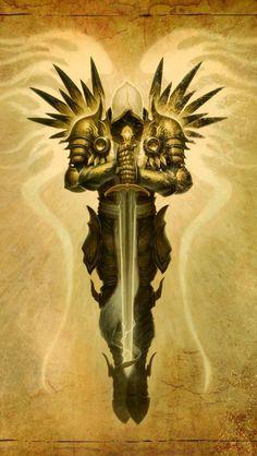 Tyrael, Arch Angel of justice, Diablo Fantasy Kunst, Fantasy Art, Body Art Tattoos, Sleeve Tattoos, Tatoos, Archangel Tattoo, Archangel Azrael, Totenkopf Tattoos, Geniale Tattoos