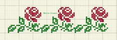 Maria Gomes: Os Meus Gráficos de Ponto Cruz Cross Stitch Borders, Cross Stitch Designs, Cross Stitch Patterns, Crochet Patterns, Tapestry Crochet, Hand Embroidery Designs, Loom Beading, Cross Stitch Embroidery, Beautiful Day