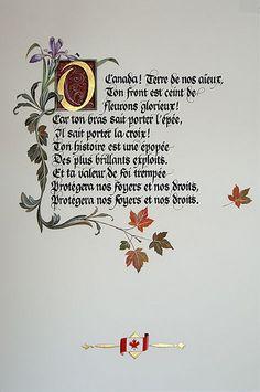 "INNO-CANADA-DENTRO | Flickr - Photo Sharing! - Illuminated manuscript of the French version of ""O Canada"" :)"