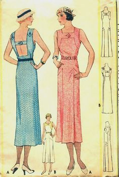 I have a Vogue Calvin Kline sundress pattern very similar to this. Great fashion never goes out of style.{McCall's dress, 1933}