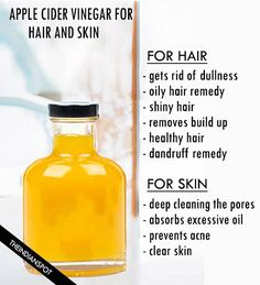 Amazing Apple cider vinegar remedies for skin and hair