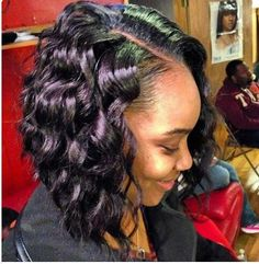 Curly Bob I Don T Know If It S Her Natural Hair But Either Way Quick Weave Hairstylessummer