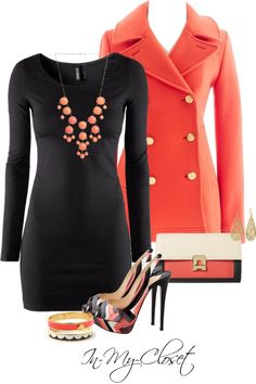 a cute way to dress up a black dress