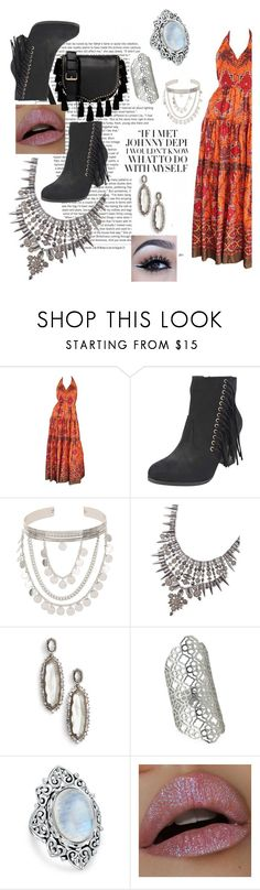 """""""vintage boho"""" by justjess1990 ❤ liked on Polyvore featuring Frank Usher, Miss Selfridge, Kendra Scott, Bling Jewelry, Rebecca Minkoff and vintage"""