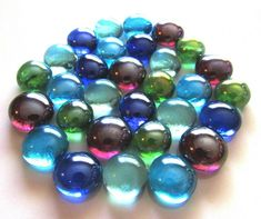 Back order Only** Nuggets Stones Gems Silver Frost 100 x Glass Pebbles