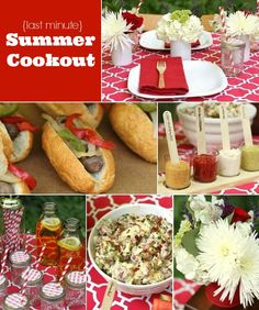 Last Minute Summer Cookout and Recipes. Really fun, creative ideas!!