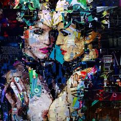 Collage by Derek Gores for Thinkspace / Aqua Art Miami