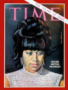 Time magazine, June 28, 1968 — Aretha Franklin by Boris Chaliapin