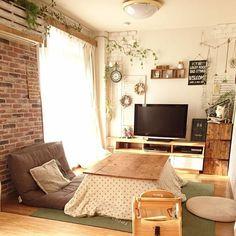 Japan Apartment, Cute Apartment, Small Apartment Interior, Apartment Layout, Apartment Living, Japanese Interior Design, Japanese Home Decor, Japanese House, Muji Haus