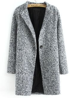 Single Button Tweed Coat ☆ theclosetfromhell.com khellyer.myitworks.com