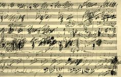 Original Beethoven music sheet