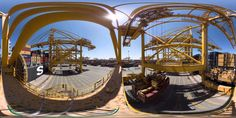 Jebel Ali Timelapse - ميناء جبل علي في دبي 360 degree video