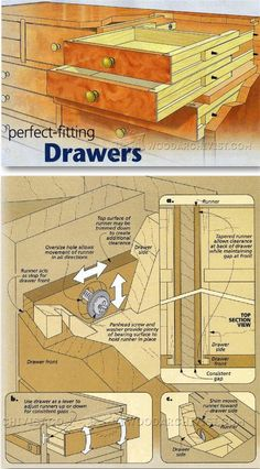 Wooden Drawer Slides - Drawer Construction and Techniques | WoodArchivist.com