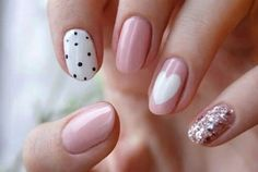Back to school nail art 🏢💅💖 on We Heart It